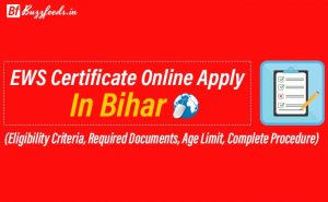 How to Apply EWS Certificate Online In Bihar?
