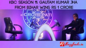 Kaun Banega Crorepati 11: Gautam Kumar Jha From Bihar Wins Rs 1 Crore