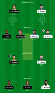 ipl 2021 mi vs rcb team 2