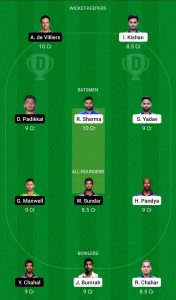 ipl 2021 mi vs rcb team 3