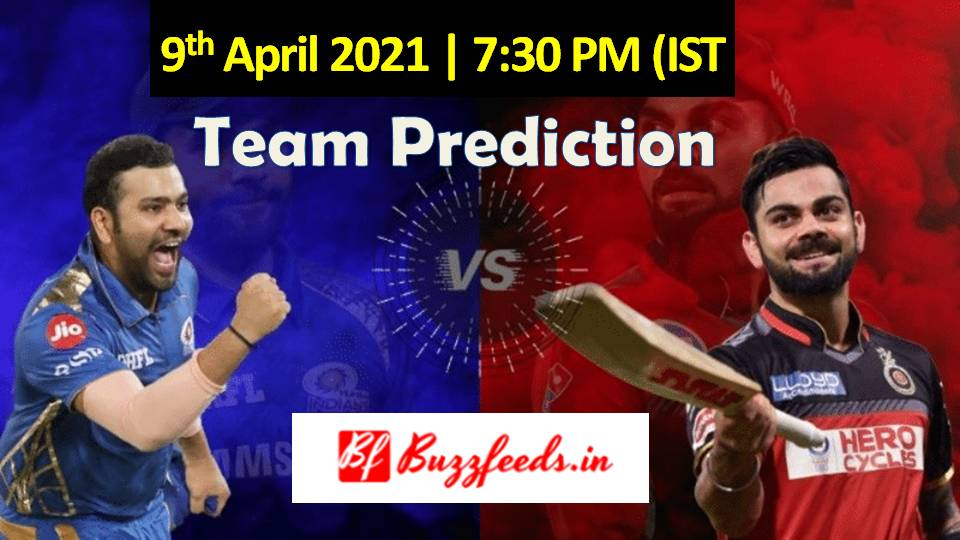 MI vs RCB Dream11 Team Prediction VIVO IPL 2021 Match 1 At MA Chidambaram Stadium, Chennai