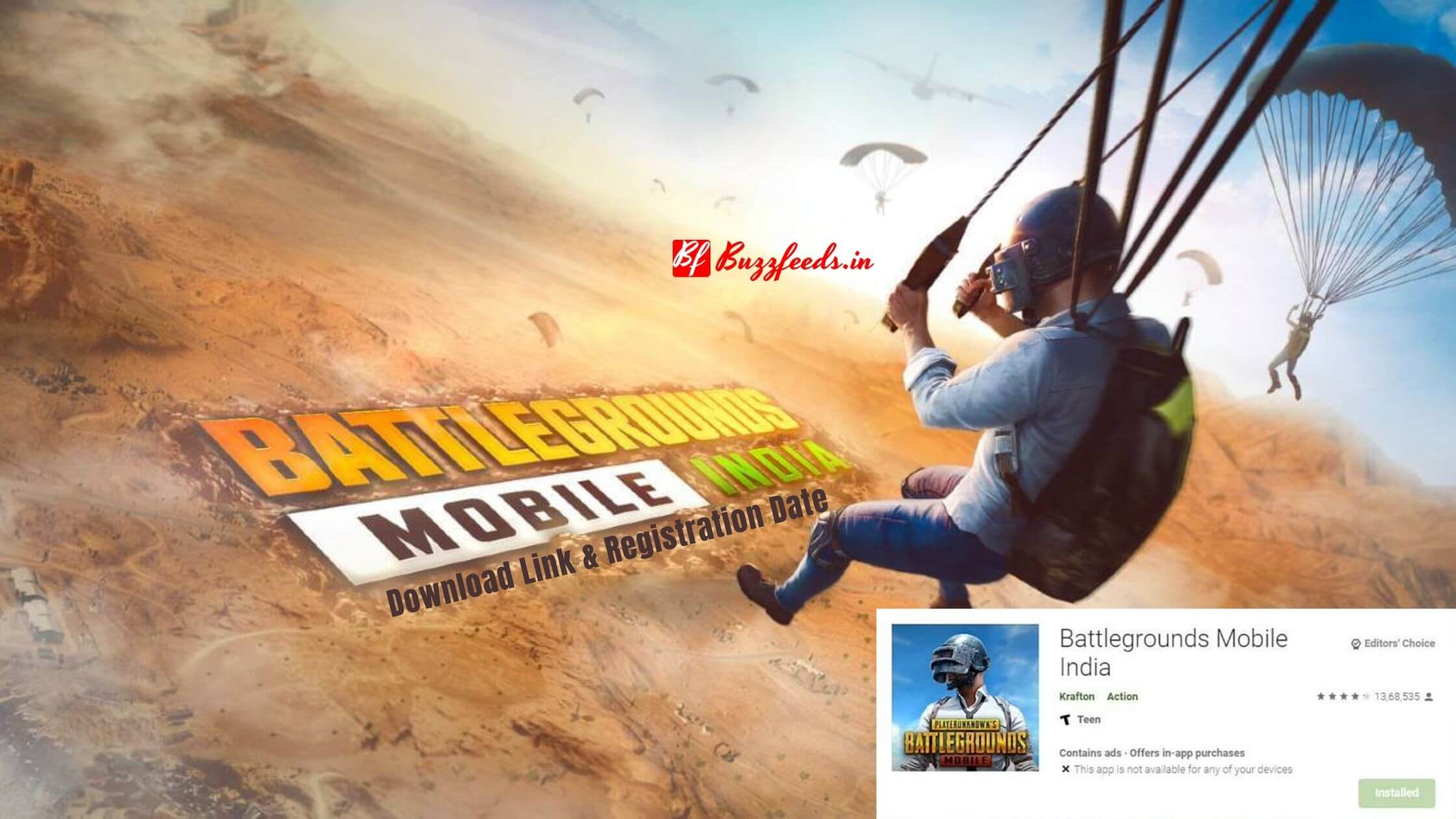 You are currently viewing Battlegrounds Mobile India APK Download Link & Registration Date