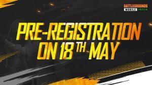 Battlegrounds Mobile India Pre Registration Date
