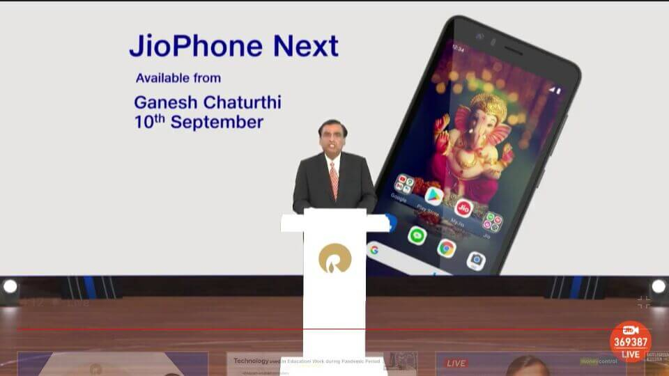 JioPhone Next Availability